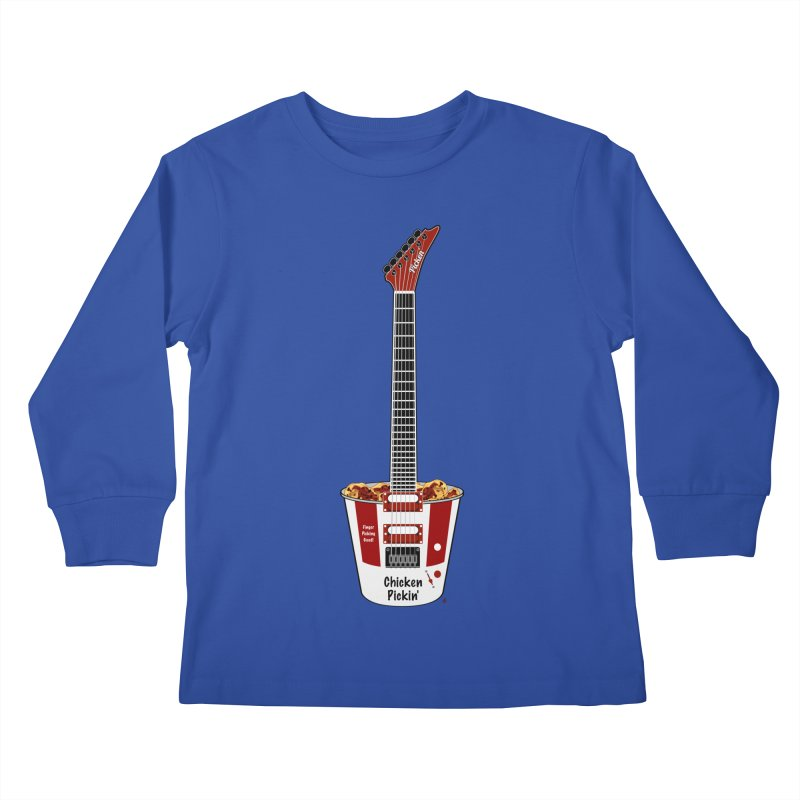 Chicken Pickin' Kids Longsleeve T-Shirt by Armando Padilla Artist Shop