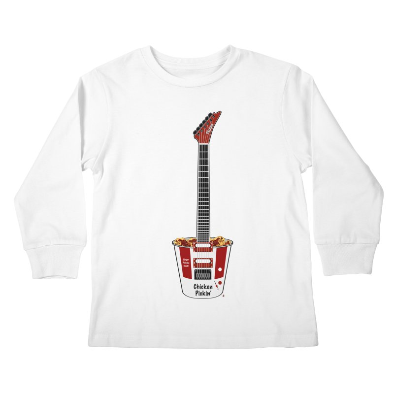 Chicken Pickin' Kids Longsleeve T-Shirt by Armando Padilla Artist Shop