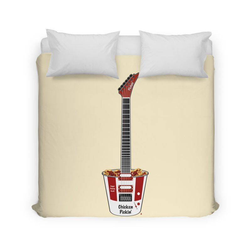 Chicken Pickin' Home Duvet by Armando Padilla Artist Shop