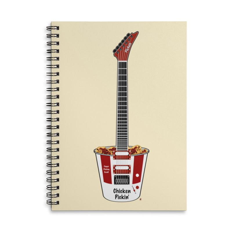 Chicken Pickin' Accessories Lined Spiral Notebook by Armando Padilla Artist Shop