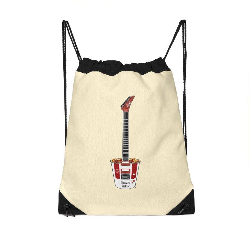 Chicken Pickin' Accessories Drawstring Bag Bag by Armando Padilla Artist Shop