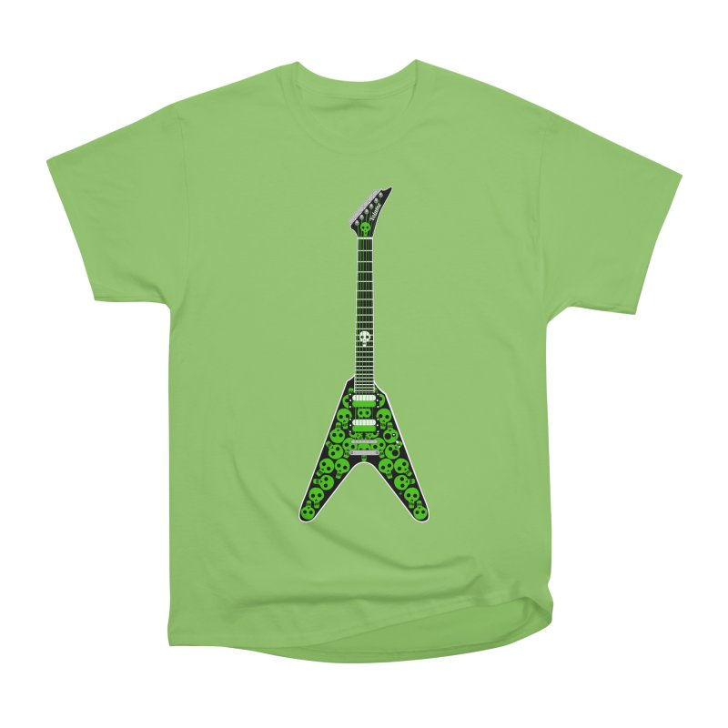 Slime Green Skulls Men's Heavyweight T-Shirt by Armando Padilla Artist Shop