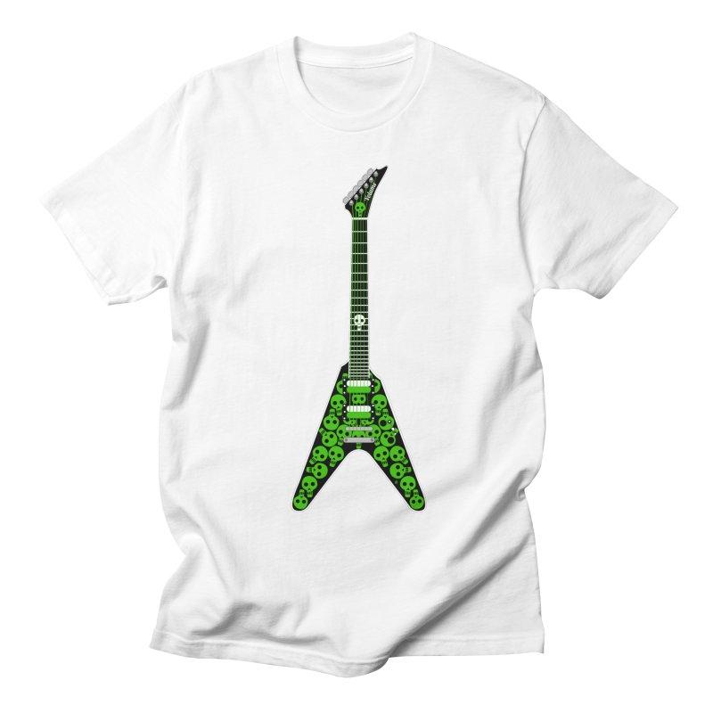 Slime Green Skulls Men's Regular T-Shirt by Armando Padilla Artist Shop