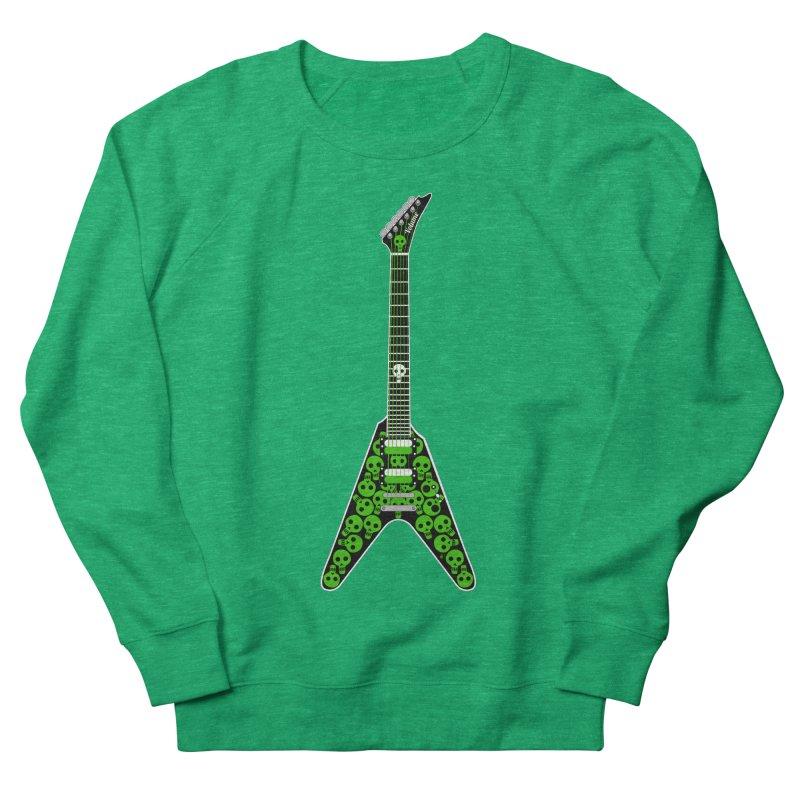 Slime Green Skulls Men's French Terry Sweatshirt by Armando Padilla Artist Shop