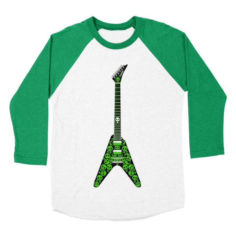 Slime Green Skulls Men's Baseball Triblend Longsleeve T-Shirt by Armando Padilla Artist Shop