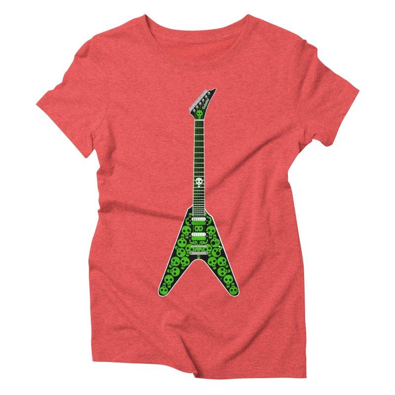 Slime Green Skulls Women's Triblend T-Shirt by Armando Padilla Artist Shop