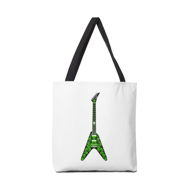 Slime Green Skulls Accessories Tote Bag Bag by Armando Padilla Artist Shop