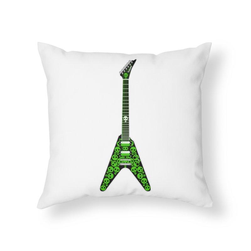 Slime Green Skulls Home Throw Pillow by Armando Padilla Artist Shop