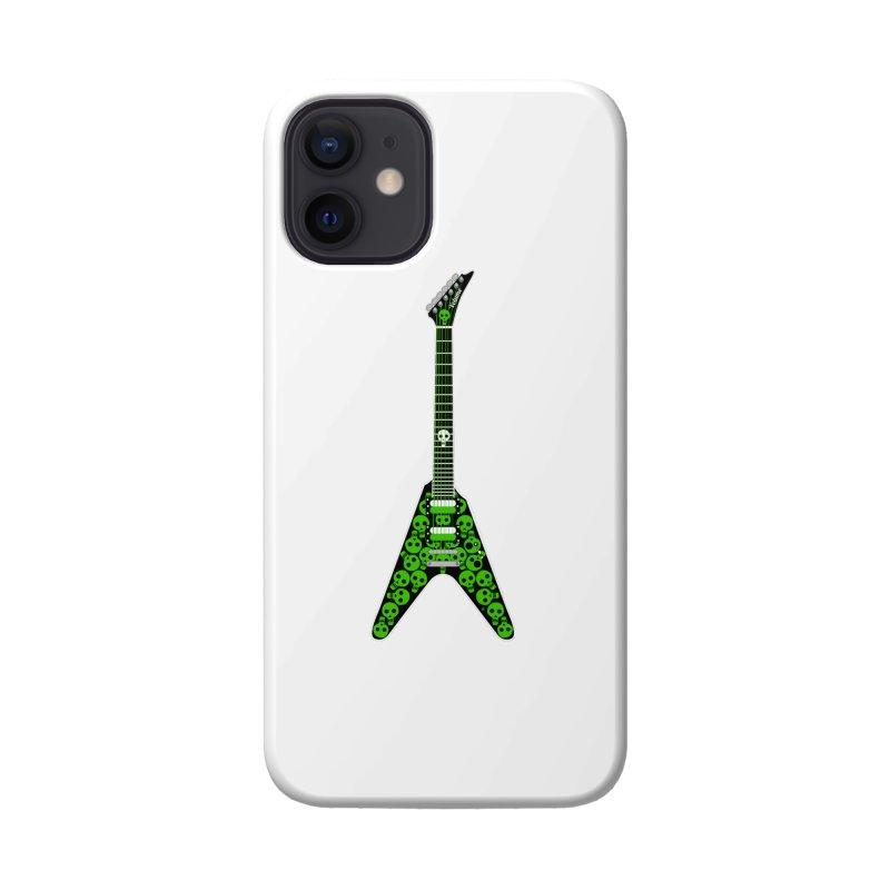 Slime Green Skulls Accessories Phone Case by Armando Padilla Artist Shop