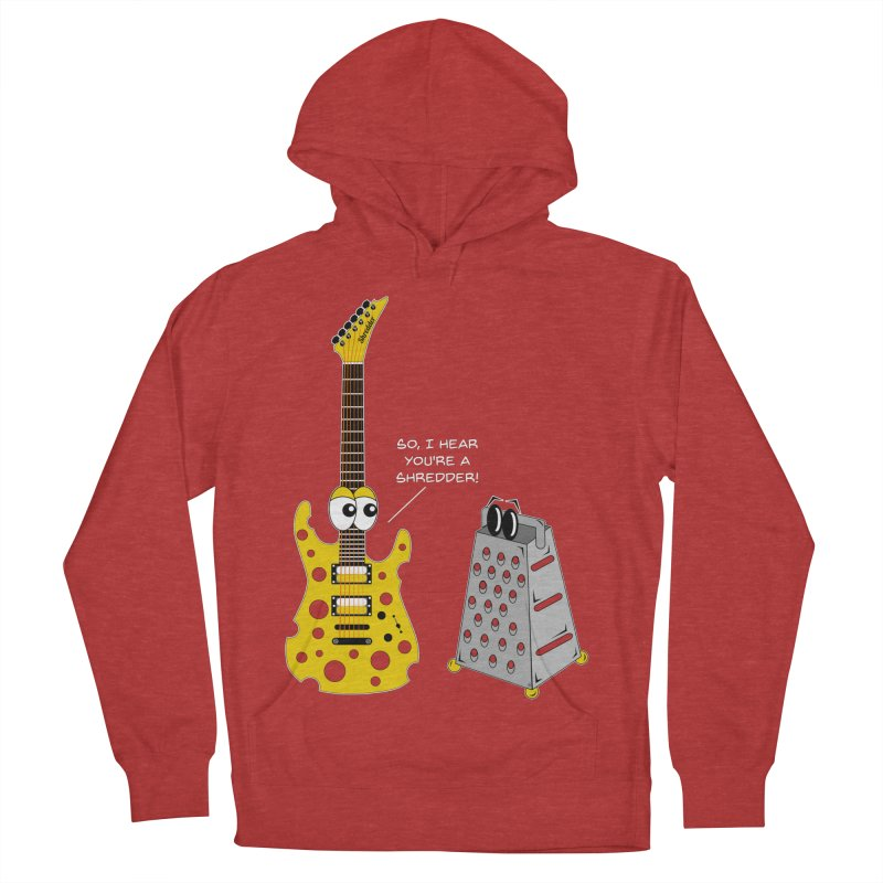 Shred Guitar Women's French Terry Pullover Hoody by Armando Padilla Artist Shop
