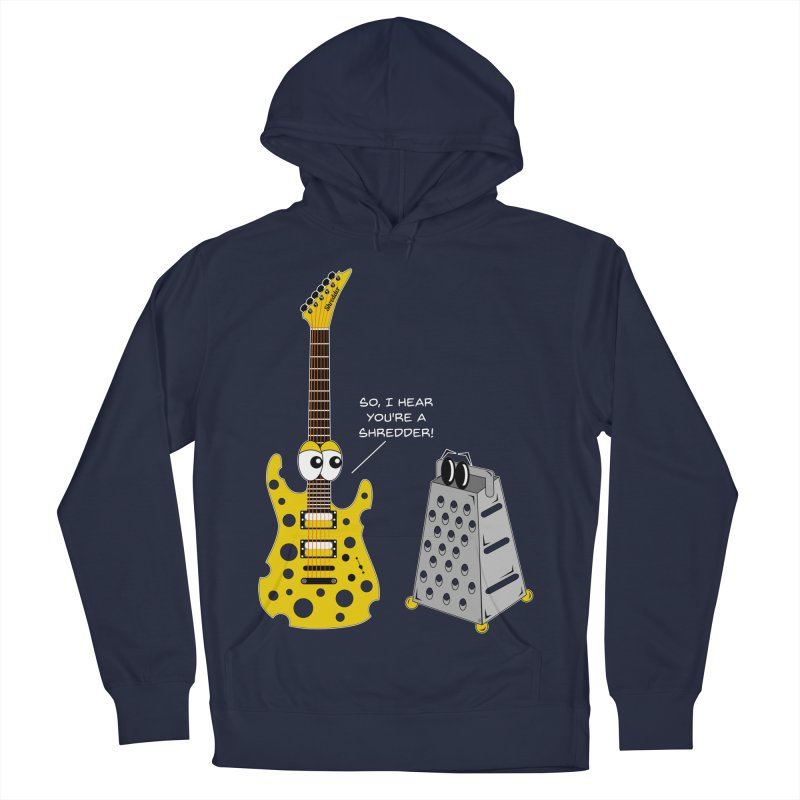 Shred Guitar Men's French Terry Pullover Hoody by Armando Padilla Artist Shop
