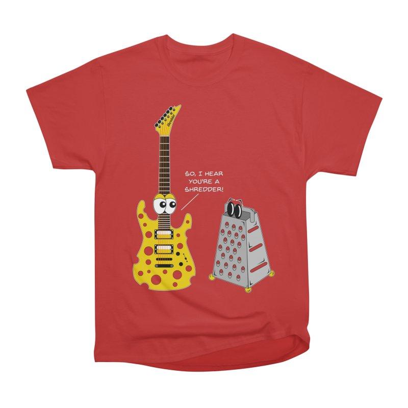 Shred Guitar Women's Heavyweight Unisex T-Shirt by Armando Padilla Artist Shop