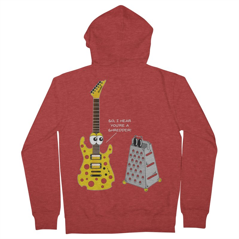 Shred Guitar Women's French Terry Zip-Up Hoody by Armando Padilla Artist Shop
