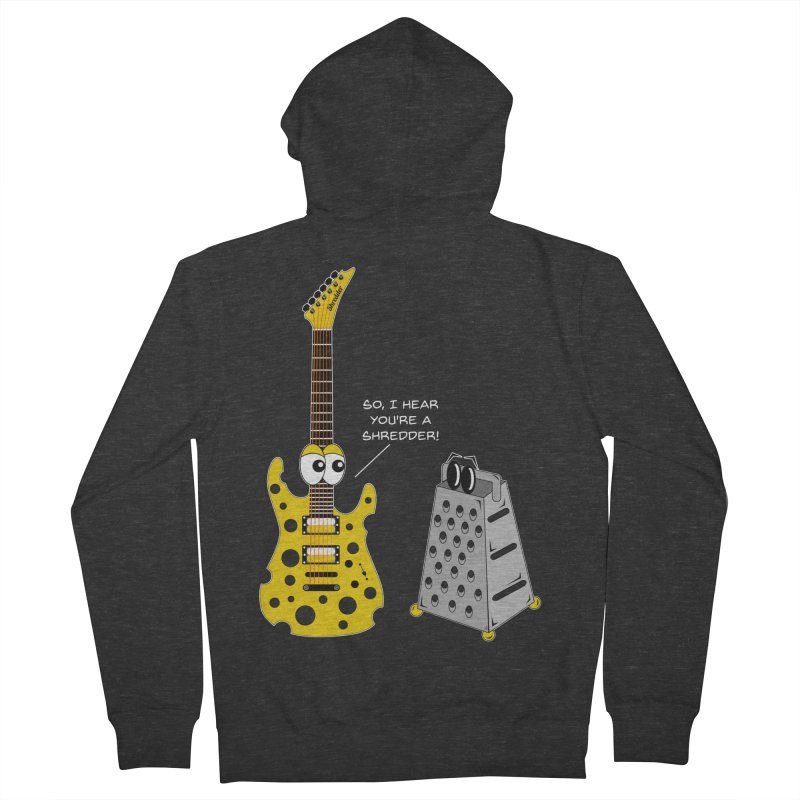 Shred Guitar Men's French Terry Zip-Up Hoody by Armando Padilla Artist Shop