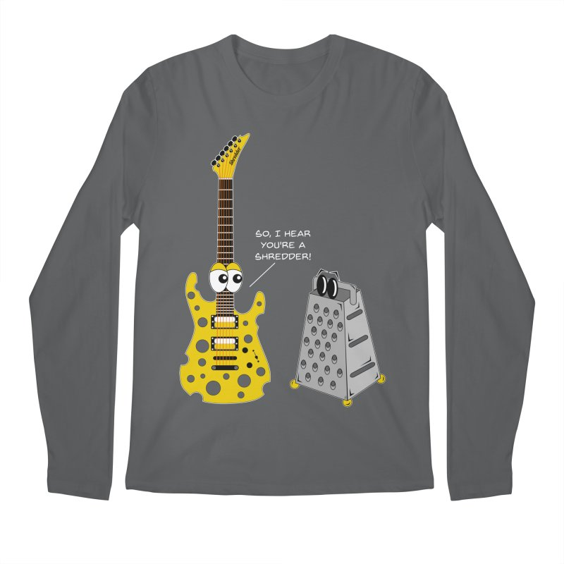 Shred Guitar Men's Regular Longsleeve T-Shirt by Armando Padilla Artist Shop