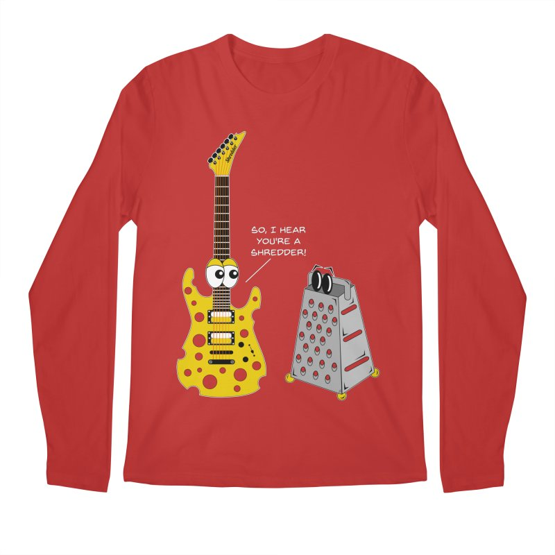 Shred Guitar Men's Regular Longsleeve T-Shirt by Armando Padilla Artist Shop