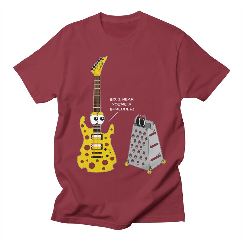 Shred Guitar Women's Regular Unisex T-Shirt by Armando Padilla Artist Shop