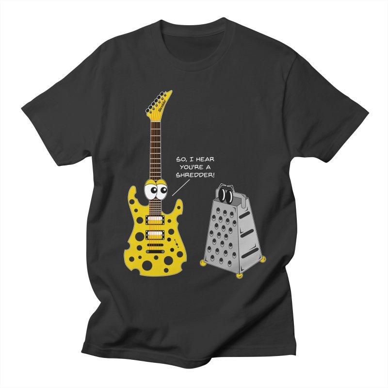 Shred Guitar Men's Regular T-Shirt by Armando Padilla Artist Shop