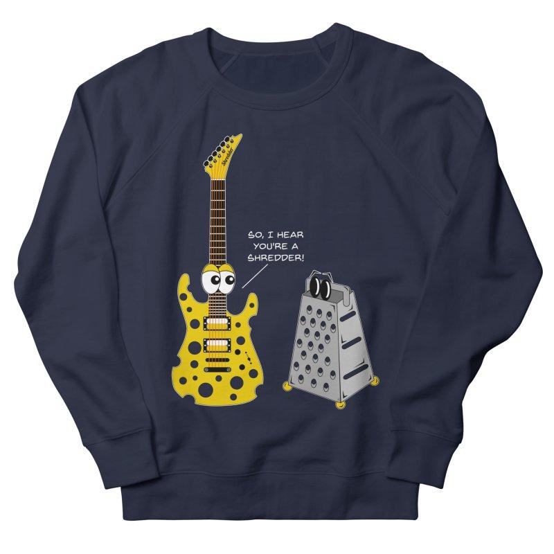 Shred Guitar Women's French Terry Sweatshirt by Armando Padilla Artist Shop