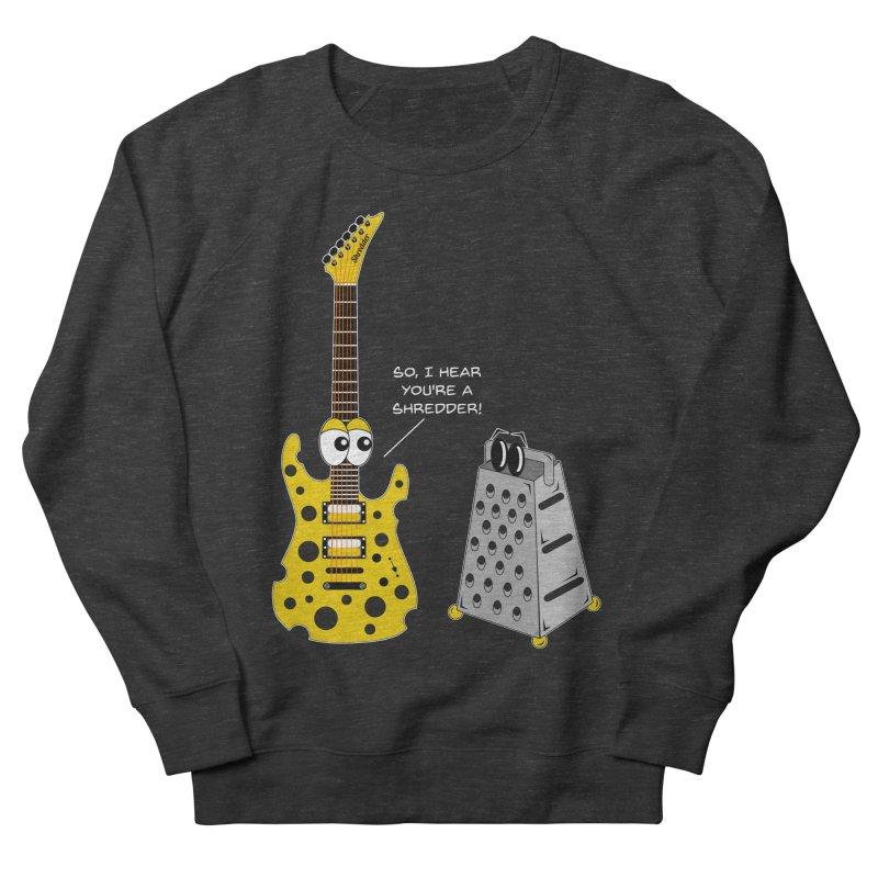 Shred Guitar Men's French Terry Sweatshirt by Armando Padilla Artist Shop