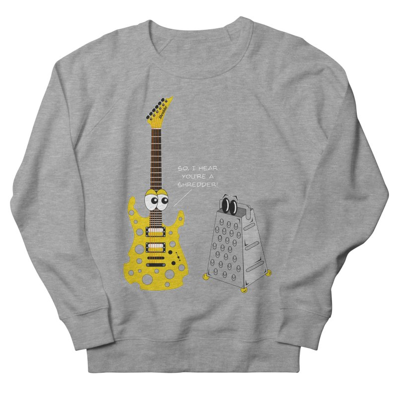 Shred Guitar Men's French Terry Sweatshirt by Armando Padilla Artist Shop