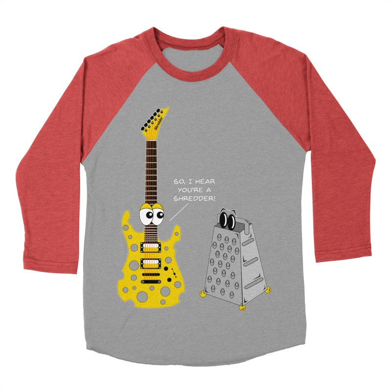 Shred Guitar Women's Baseball Triblend Longsleeve T-Shirt by Armando Padilla Artist Shop