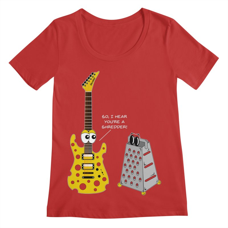 Shred Guitar Women's Scoop Neck by Armando Padilla Artist Shop