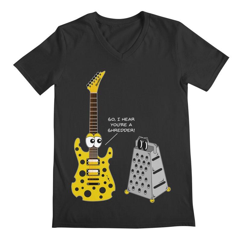 Shred Guitar Men's Regular V-Neck by Armando Padilla Artist Shop