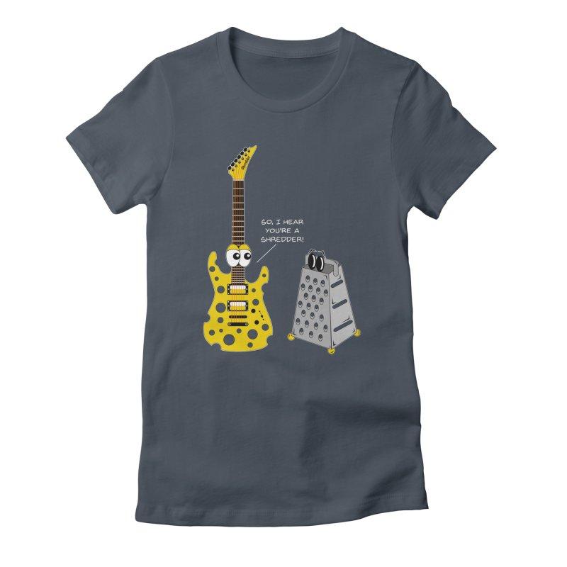Shred Guitar Women's T-Shirt by Armando Padilla Artist Shop