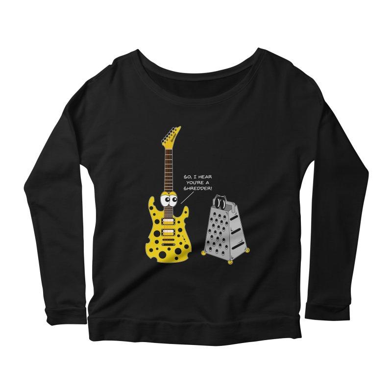 Shred Guitar Women's Scoop Neck Longsleeve T-Shirt by Armando Padilla Artist Shop