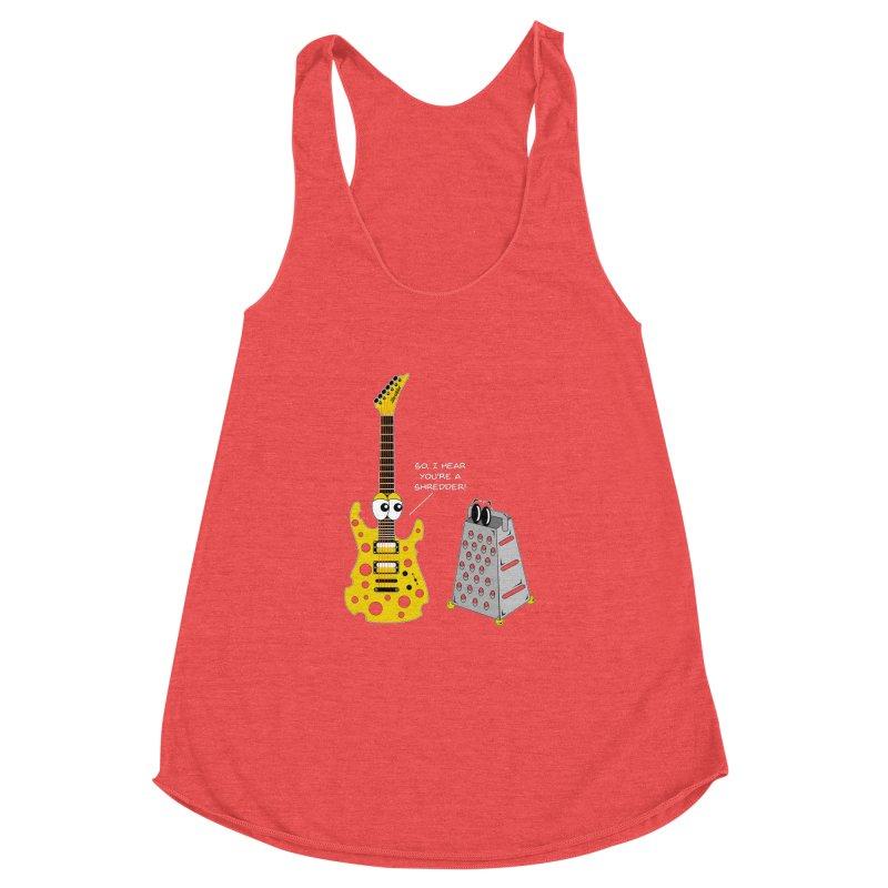 Shred Guitar Women's Racerback Triblend Tank by Armando Padilla Artist Shop