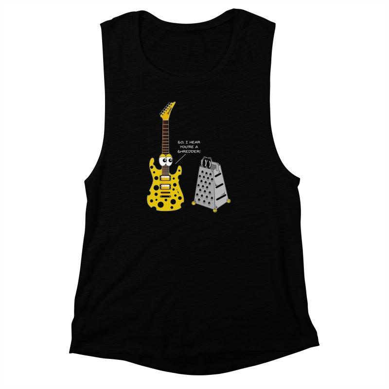 Shred Guitar Women's Muscle Tank by Armando Padilla Artist Shop