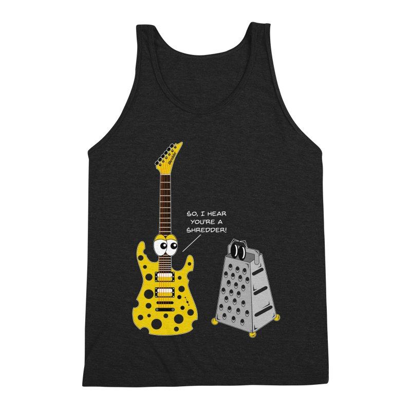 Shred Guitar Men's Triblend Tank by Armando Padilla Artist Shop