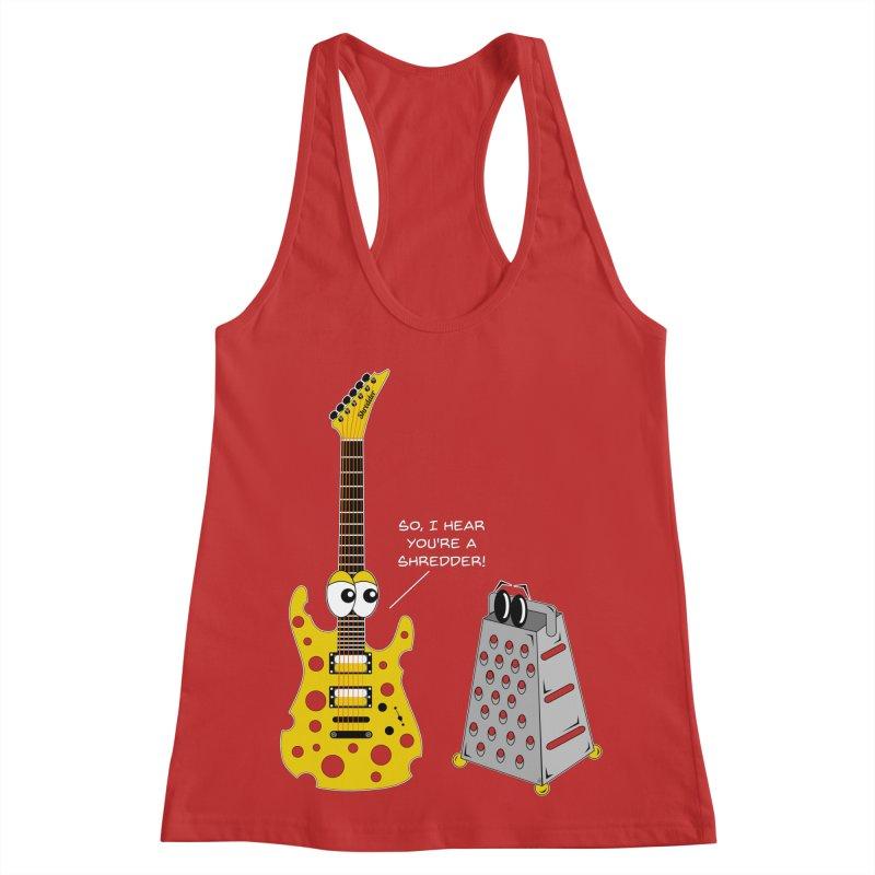 Shred Guitar Women's Racerback Tank by Armando Padilla Artist Shop