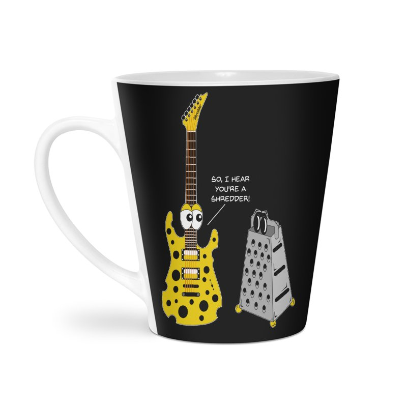 Shred Guitar Accessories Latte Mug by Armando Padilla Artist Shop
