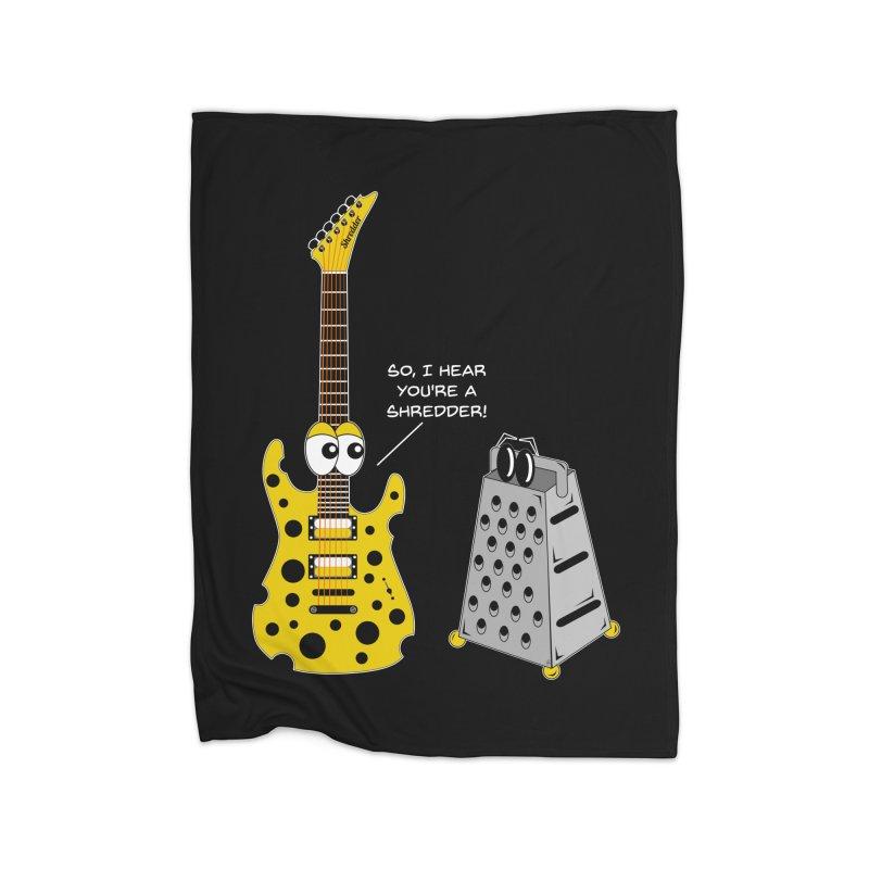 Shred Guitar Home Fleece Blanket Blanket by Armando Padilla Artist Shop