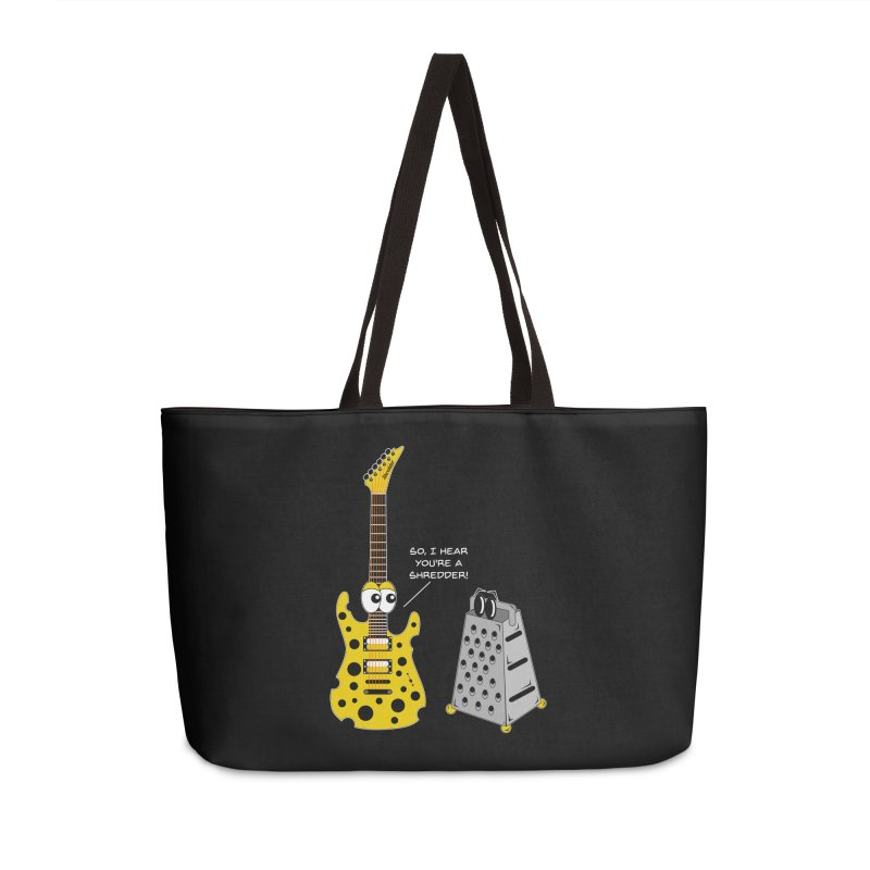 Shred Guitar Accessories Weekender Bag Bag by Armando Padilla Artist Shop