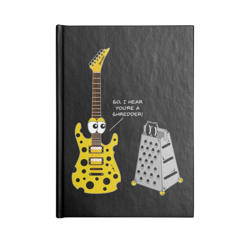 Shred Guitar Accessories Lined Journal Notebook by Armando Padilla Artist Shop