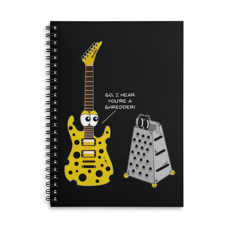 Shred Guitar Accessories Lined Spiral Notebook by Armando Padilla Artist Shop