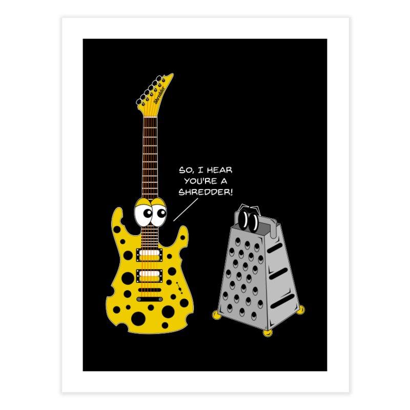 Shred Guitar Home Fine Art Print by Armando Padilla Artist Shop