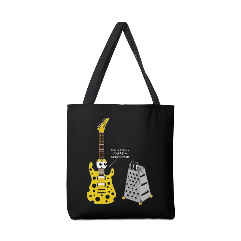 Shred Guitar Accessories Tote Bag Bag by Armando Padilla Artist Shop