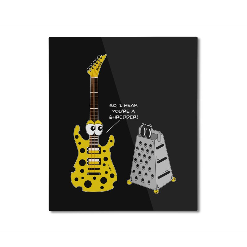 Shred Guitar Home Mounted Aluminum Print by Armando Padilla Artist Shop