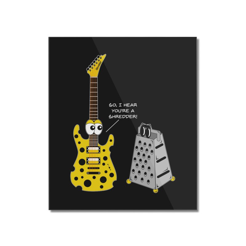 Shred Guitar Home Mounted Acrylic Print by Armando Padilla Artist Shop