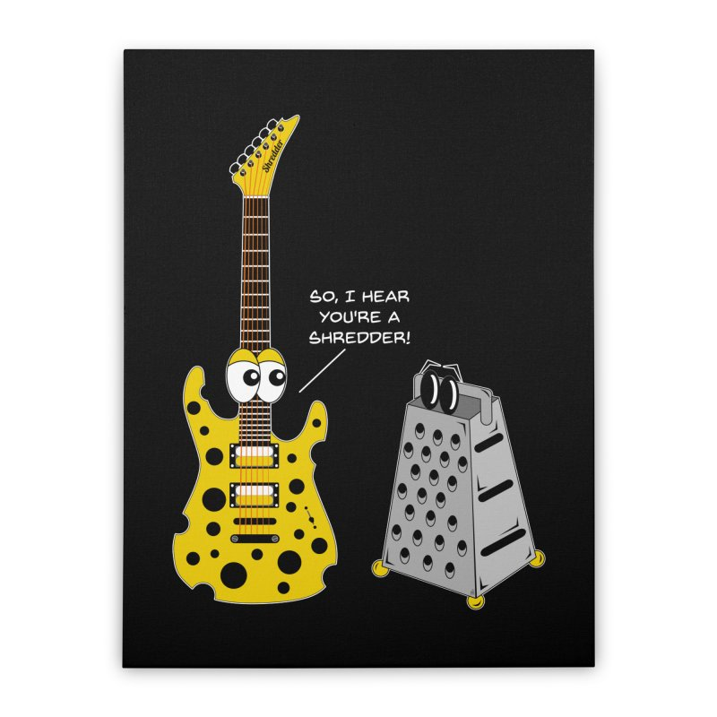 Shred Guitar Home Stretched Canvas by Armando Padilla Artist Shop