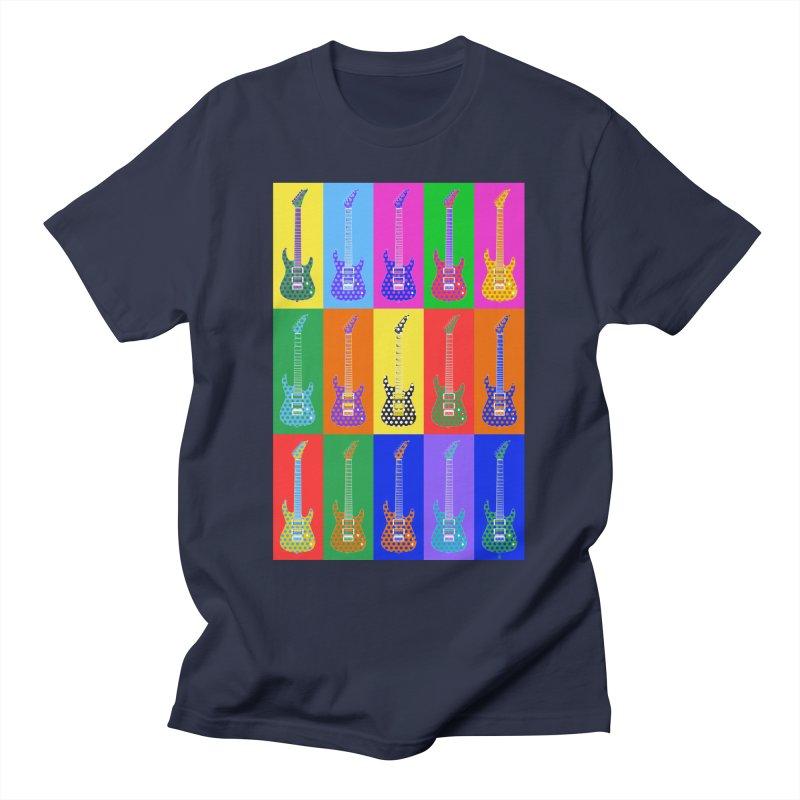 Guitar Warhol Dots Men's T-Shirt by Armando Padilla Artist Shop