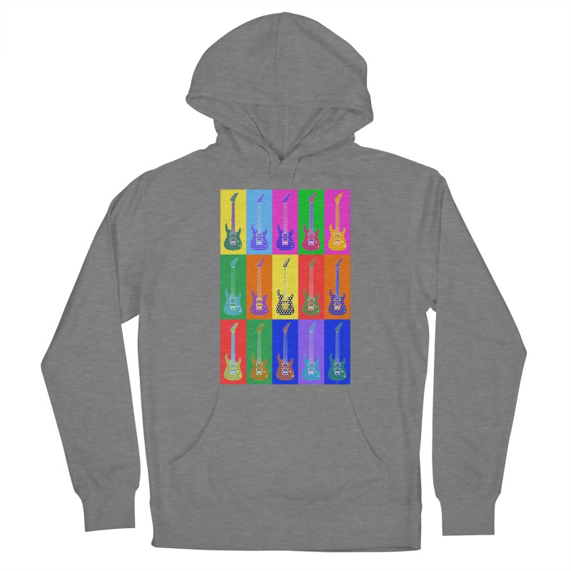 Guitar Warhol Dots Women's Pullover Hoody by Armando Padilla Artist Shop