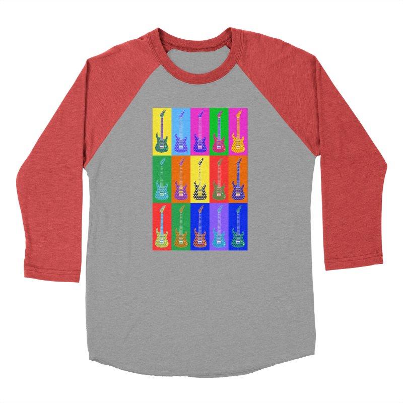 Guitar Warhol Dots Men's Longsleeve T-Shirt by Armando Padilla Artist Shop