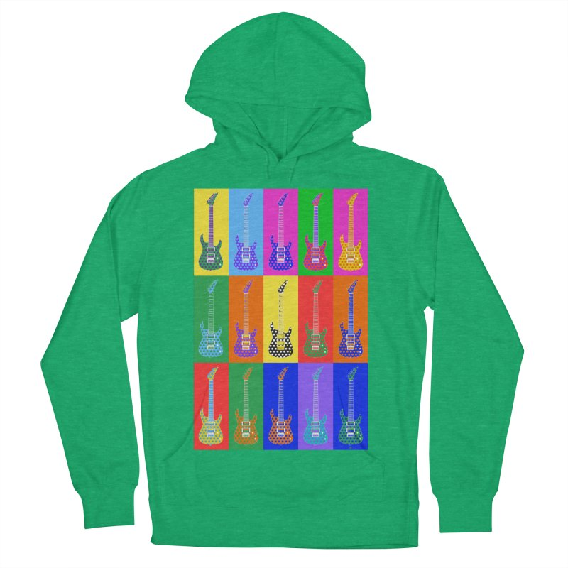 Guitar Warhol Dots Women's French Terry Pullover Hoody by Armando Padilla Artist Shop