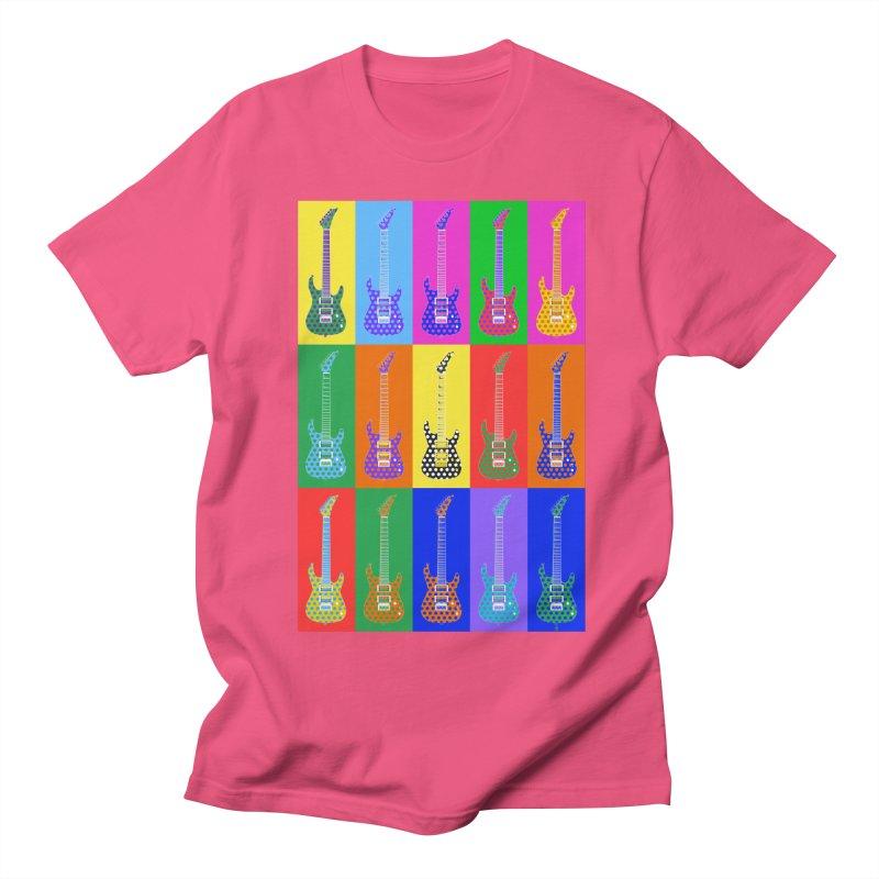 Guitar Warhol Dots Men's Regular T-Shirt by Armando Padilla Artist Shop