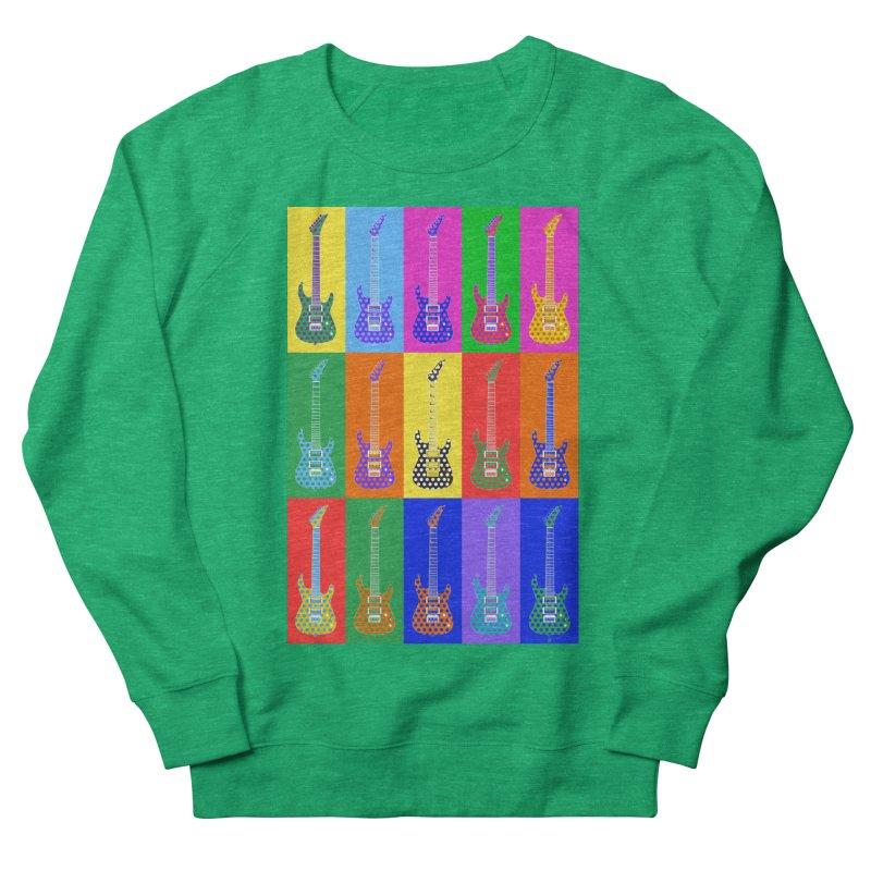 Guitar Warhol Dots Women's Sweatshirt by Armando Padilla Artist Shop